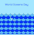 world oceans day symbolic waves whale tail vector image vector image
