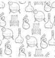 Chemistry lab pattern vector image