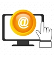 laptop at hand icon vector image