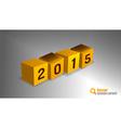2015 cube orange vector image vector image