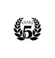 5 anniversary sign element of anniversary sign vector image vector image