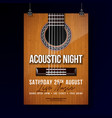 acoustic night party flyer design with string vector image vector image