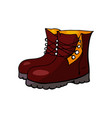 autumn boots isolated on white background vector image