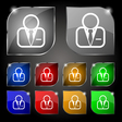 Avatar icon sign Set of ten colorful buttons with vector image vector image