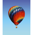 balloon with a basket vector image vector image