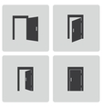 black door icons set vector image vector image
