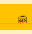 black friday gift sale minimal background vector image vector image