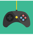 Black Gamepad Icon vector image