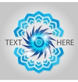Blue abstract element vector image vector image