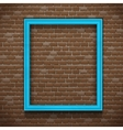 Blue Frame On Wall vector image