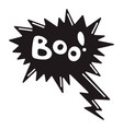 boo speech bubble icon simple style vector image