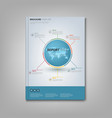 brochures book or flyer with info graphic on the vector image vector image