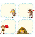 camping children blank banner vector image vector image