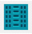 city building icon flat style vector image