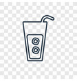 cocktail concept linear icon isolated on vector image vector image