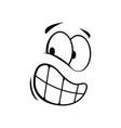 confused suspicious emoticon expression isolated vector image