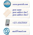 contact info template vector image vector image