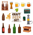 craft beer set vector image vector image