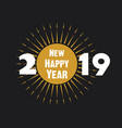creative new year 2019 poster design vector image