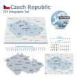 Czech Republic maps with markers vector image vector image