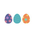 easter eggs isolated set flat cartoon vector image