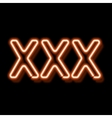 Erotic neon sign vector image vector image
