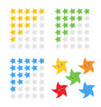 five stars rating icon evaluation of the hotel vector image