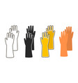 flat icon rubber glove vector image vector image