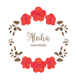 Floral Frame with Hibiscus vector image