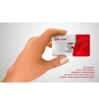 gift card in hand vector image