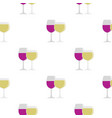 glasses with red and white wine pattern flat vector image vector image