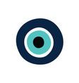 greek evil eye symbol protection vector image
