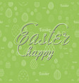 happy easter greeting card with handwritten text vector image vector image