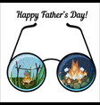 happy father day greeting card template with vector image