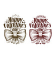 happy valentine day greeting card holiday label vector image vector image