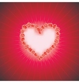 HEART OF LOVE Diamond heart background with space vector image vector image