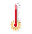 heat thermometer icon - measurement symbol vector image