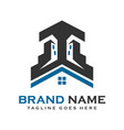 home and building logos vector image vector image
