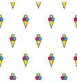 ice cream line icon seamless pattern vector image vector image