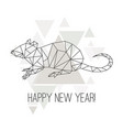 image low poly rat isolated on white background vector image