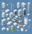 industrial based on isometric projection vector image vector image
