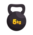 kettlebell weight gym sport vector image vector image