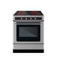 kitchen electric stove vector image