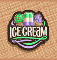 logo for italian ice cream vector image vector image