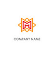 m initial star line company logo vector image vector image
