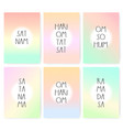 mantra poster set cards with chants on vector image vector image