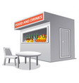 market food tent vector image vector image