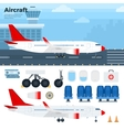 Modern aicraft standing in the airport vector image vector image