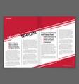 modern magazine or business brochure vector image