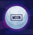 moon universe with star icon vector image